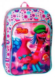 Batoh Trollové / Trolls Dvoukomorový Růžový 40 Cm