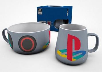 Hrnek a miska Playstation / vecizfilmu