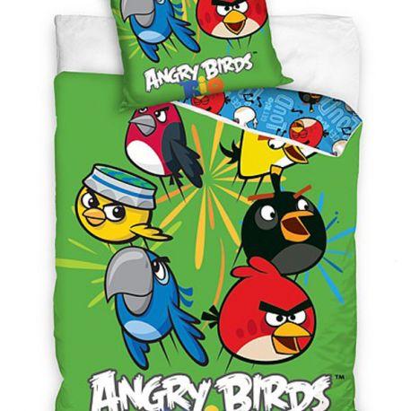 Povlečení Angry Birds Rio zelená 140/200