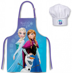Kuchyňská zástěra a čepice Frozen Blue / vecizfilmu