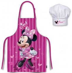Kuchyňská zástěra a čepice Minnie Mouse Cute / vecizfilmu