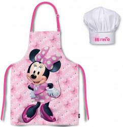 Kuchyňská zástěra a čepice Minnie Mouse / vecizfilmu