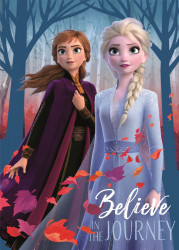 Deka Frozen 2 / Anna a Elsa / vecizfilmu
