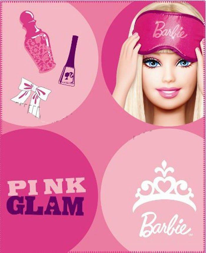 Fleece deka Barbie POP 130/160