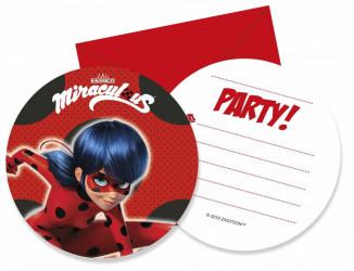 Pozvánky Miraculous Ladybug / Zázračná Beruška / vecizfilmu