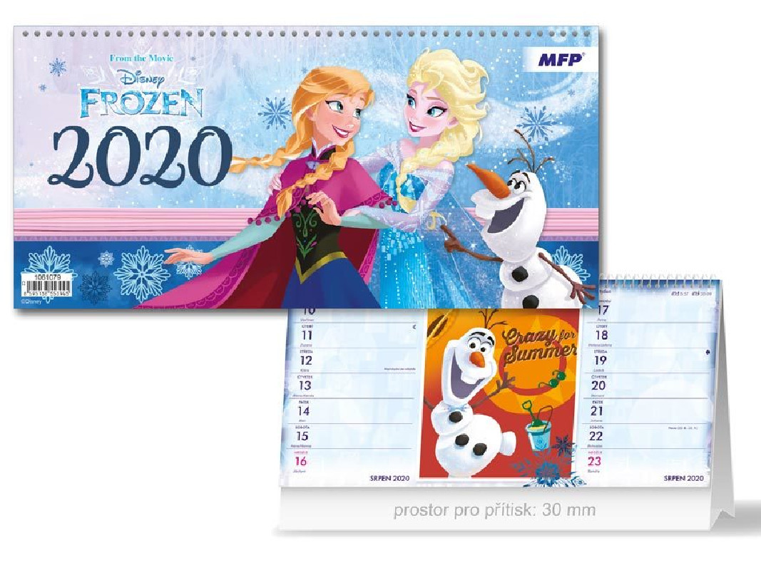 Kalendář Frozen 2020 stolní / vecizfilmu