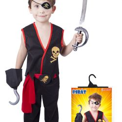 Kostým Pirát, 4 Ks,vel. S