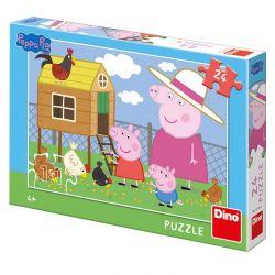Puzzle Prasátko Peppa 24 dílků
