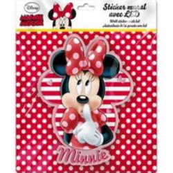 3D LED svítící nálepka Minnie Mouse