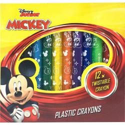 Šroubovací voskovky Mickey Mouse Junior / 12 barev