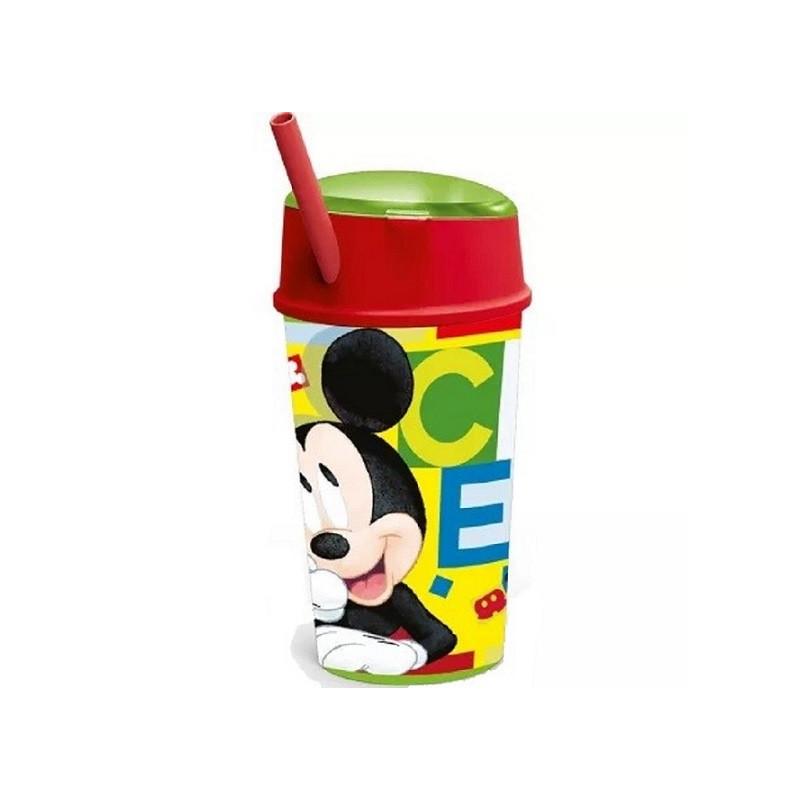 Občerstvovací pohár / kelímek se slámkou Mickey Mouse