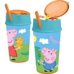 Občerstvovací pohár / kelímek se slámkou Peppa Pig