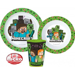 Jídelní sada Minecraft / talíř / miska / kelímek