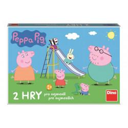 Stolní Hra 2v1 / Pojď si hrát a skluzavky / Prasátko Peppa Pig