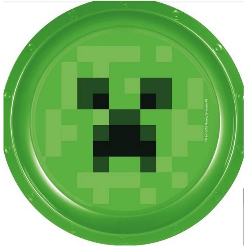 Plastový talířek Minecraft  / Creeper / 22 cm