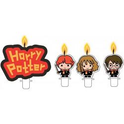 Svíčky na dort Harry Potter / Set 4 kusů / věci z filmů