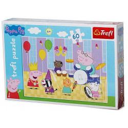 Puzzle Prasátko Peppa / Na plese / 60 dílků