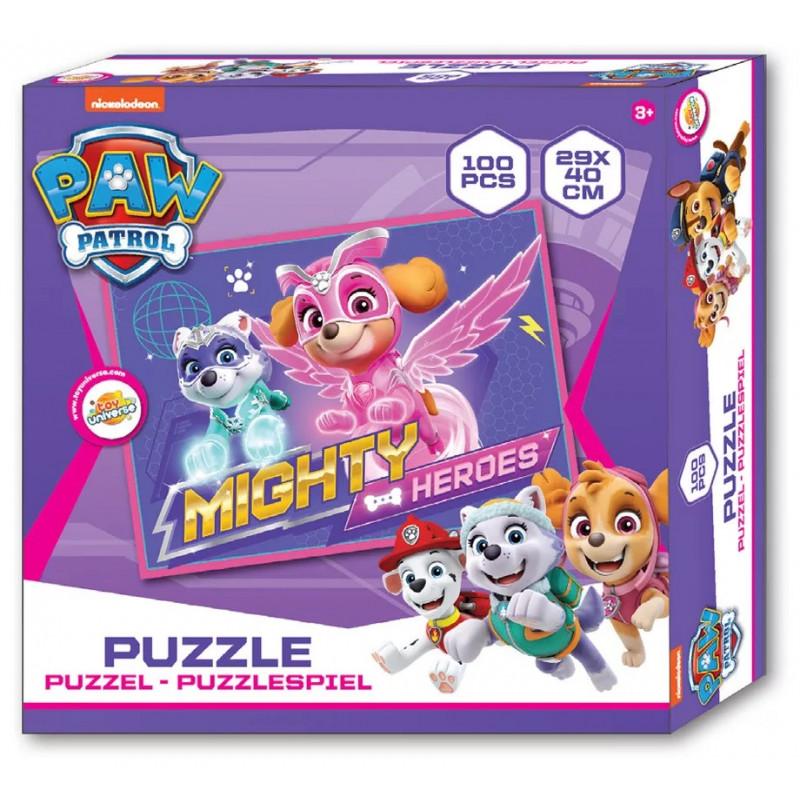 Puzzle Paw Patrol / Mighty Heroes / 100 dílků