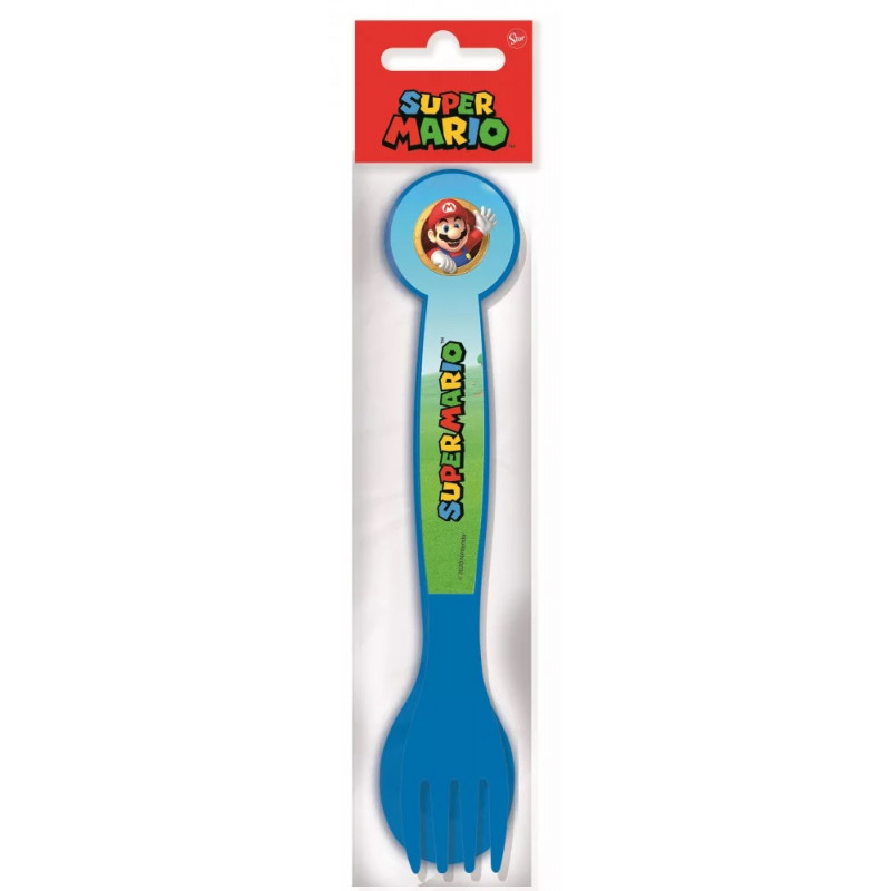 Plastový příbor Super Mario