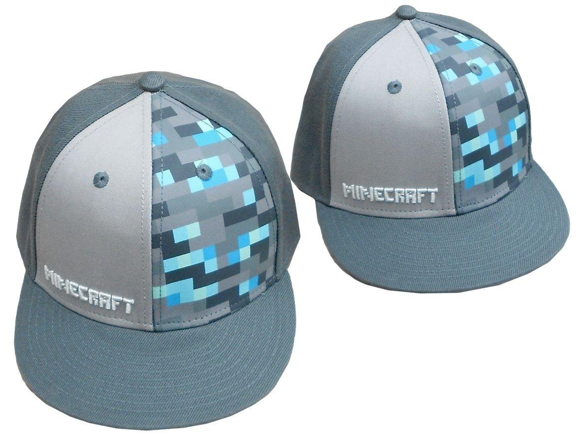 Baseball čepice / kšiltovka Minecraft šedá