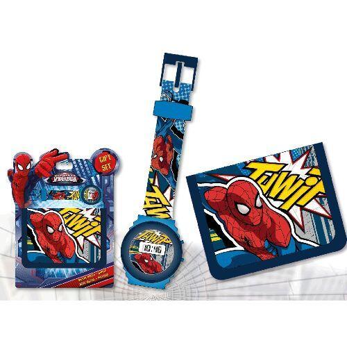 Sada digitální hodinky a peněženka Spiderman