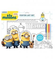 Plakátový Umělecký Set Mimoni + 4 Fixy
