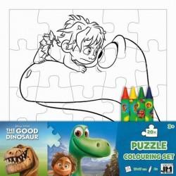 Puzzle K Vymalování Hodný Dinosaurus