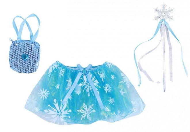 sukně tutu  zimní, hůlka, kabelka