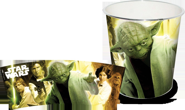 Dětský odpadkový koš zelený - Star Wars