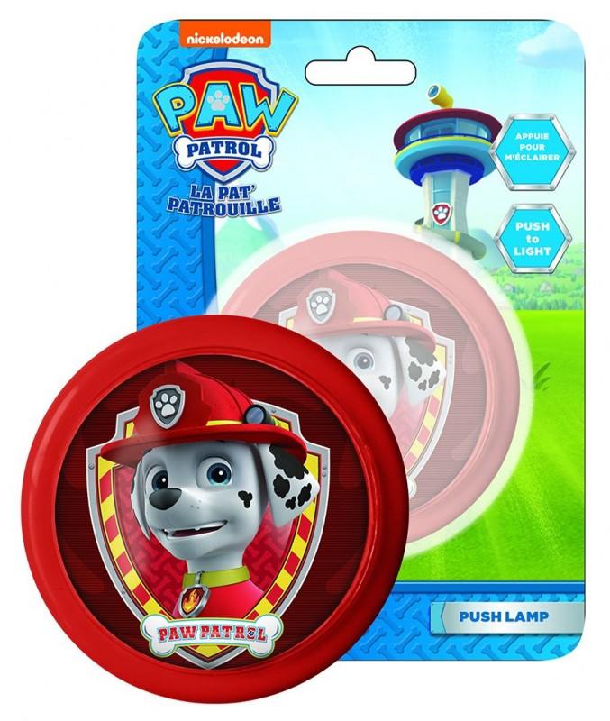 Kulatá Mini Červená Lampička Paw Patrol b5bb61b361