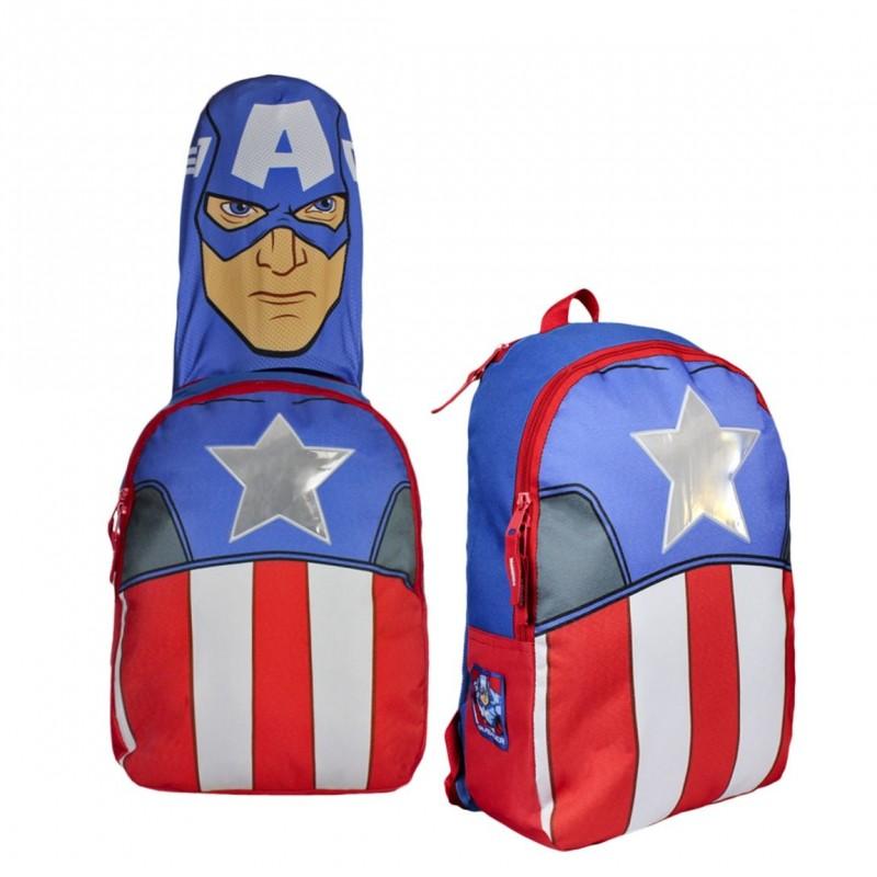 Super chlapecký batoh Avengers s kapucí - hvězda