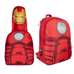 Batoh Avengers S Kapucí - Červený  41 Cm