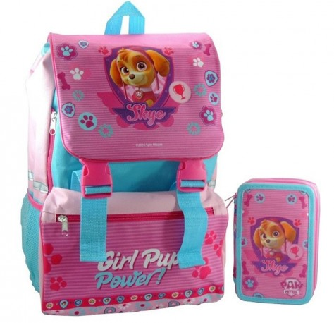 Dívčí školní batoh s pouzdrem Paw Patrol