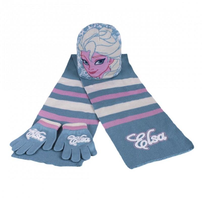 Hřejivá Sada Oblečení Ledové Království / Frozen čepice / rukavice / šála / vecizfilmu