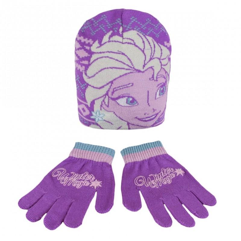Hřejivá Sada Oblečení Frozen / Ledové Království čepice a rukavice / vecizfilmu