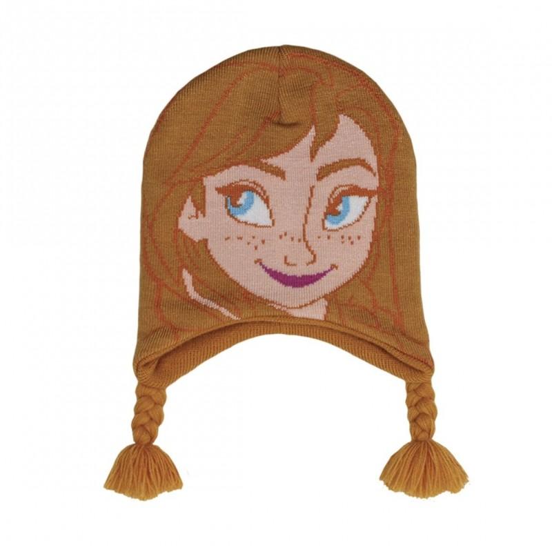 Dívčí podzimní   zimní čepice Frozen Anna   vecizfilmu 05cf51abc5