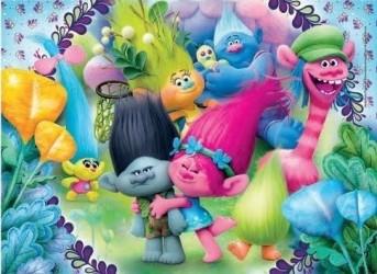 Puzzle pro děti 100 dílků Trollové