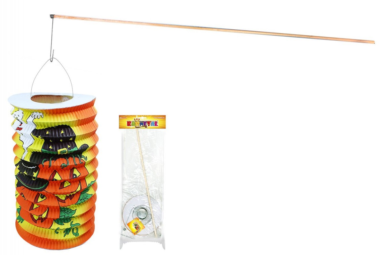 Lampion Halloween s dřevěnou hůlkou