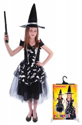 Kostým Čarodějnice Halloween Netopýr