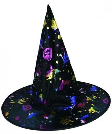 Klobouk čarodějnický s potiskem pro dospělé