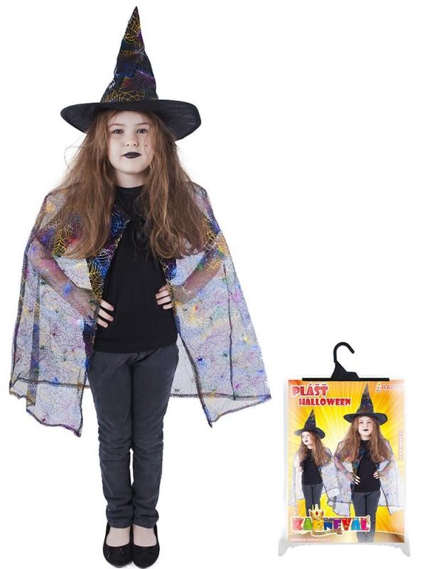 Kostým na Halloween - plášť a klobouk