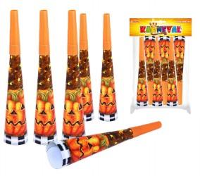 Trumpeta párty - Halloween Orange 6 ks