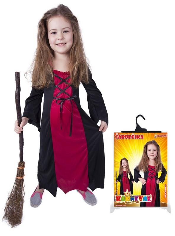 Kostým čarodějnice na Halloween bordó