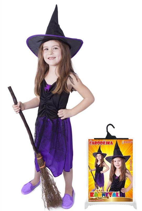Kostým čarodějnice Halloween Purple s kloboukem