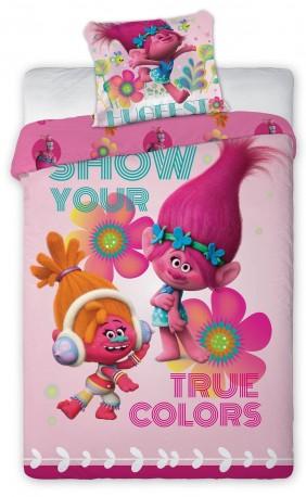 Dívčí povlečení Trollové True Colors