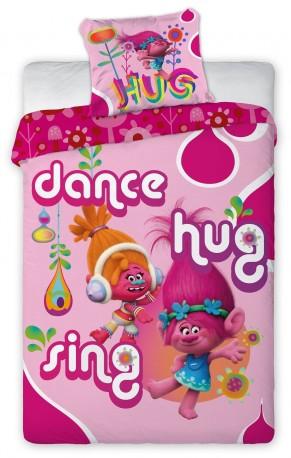 Dívčí povlečení Trollové True Colors Dance