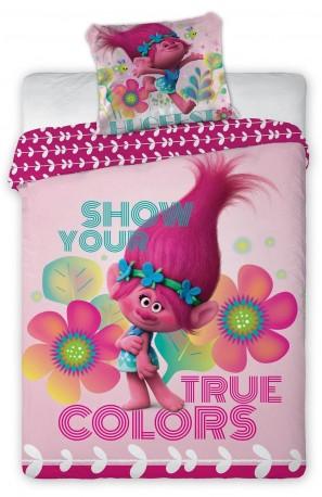 Dívčí povlečení Trollové Flowers