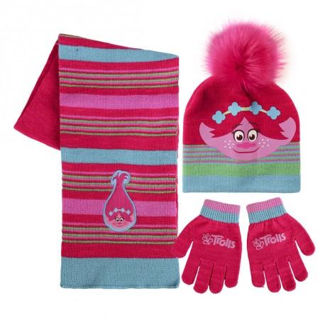 Sada čepice - šála - rukavice Trollové