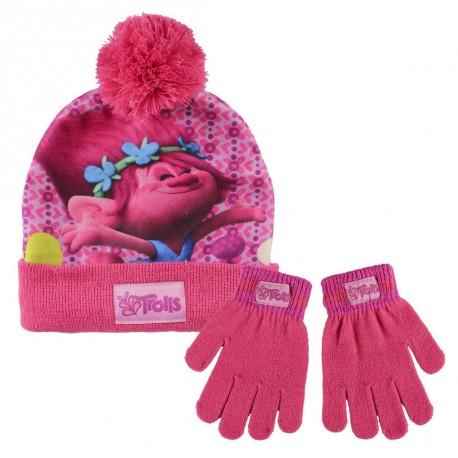 Sada pro holky čepice a rukavice Trollové