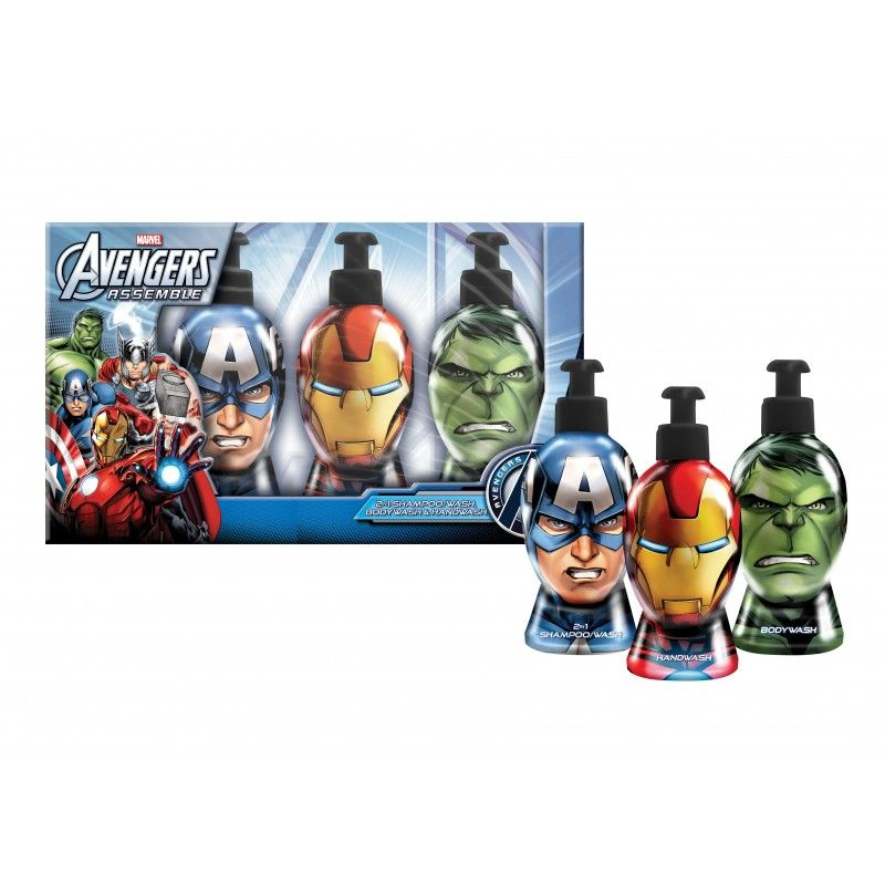 Avengers set (šampon, sprchový gel, tekuté mýdlo s dávkovačem  po 300 ml)